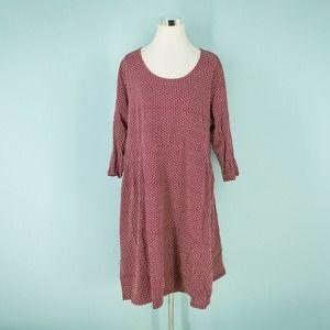 Lands End 2X Geometric Jersey Knit Dress NWOT